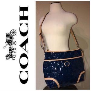 Coach cobalt blue shoulder bag
